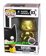 DC SUPER HEROES FUNKO POP GAMESTOP EXCLUSIVE GOLD BATGIRL #03 VINYL FIGURE