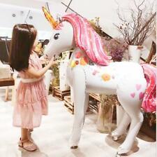 Large 3D Unicorn Rainbow  Airwalk Foil Balloon Birthday Party Decoration