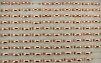 Wholesale Lots 40pcs Rose Gold P Jewelry Women Men's Stainless Steel Rings