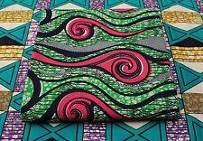 New African Cotton Print Fabric Ankara Stunning Bright Bold Colors Sold Per Yard