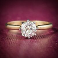 Antique Victorian Diamond Engagement Ring 18ct Gold Circa 1900