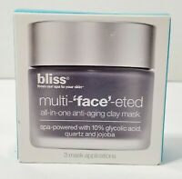 BLISS MULTI-'FACE'-ETED All In One Box Of 3 Anti Aging Clay Mask NEW - Lot of 2