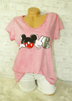Italy New Collection T-Shirt pink Vintage Mickey Mouse Gr.36 38 40 42 blogger