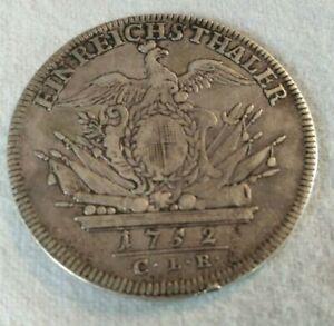 Brandenburg Bayreuth Reichstaler, Leichter Taler, 1752 CLR Friedrich II