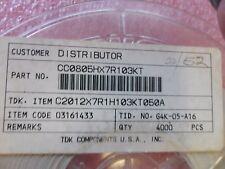 (100 PER LOT) CAPACITOR CERAMIC 10000pF 50V X7R 0805 SMD