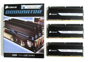 Corsair DOMINATOR 6GB (3x2GB) PC3-12800 1600MHz DDR3 (TR3X6G1600C8D) Memory Kit