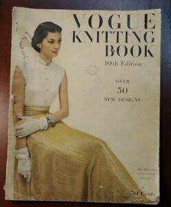 Vogue Knitting Book Magazine 10th Edition 1944