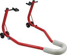 Bicicleta Moto Motocicleta Universal Trasero Paddock Stand Rojo Gratis Reino Unido P&p