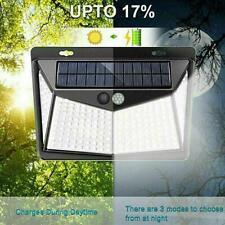208 LED Impermeable Solar Power Sensor De Movimiento PIR Pared Luz Lámparas al Aire Libre V0E6