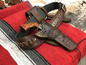 Custom Gun Belt And Holster Set Hand Of God Rig Cowboy Action