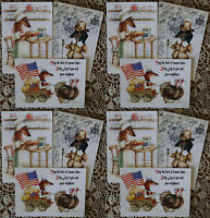 "Dachshund Thanksgiving Harvest greeting cards Inga SmG 5""x7"" Dog cards set"