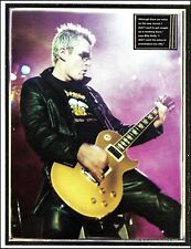 The Cult Billy Duffy with Gibson Gold Top Les Paul guitar 8 x 11 pin-up photo