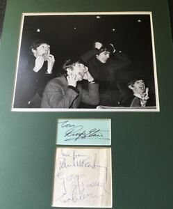 THE BEATLES - FULL SET OF AUTOGRAPHS MOUNTED WITH  PHOTO PLUS FULL PROVENANCE