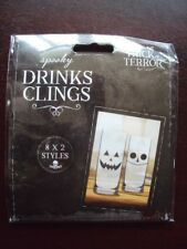 HALLOWEEN DRINK CLINGS 16 PACK DECORATE YOUR GLASSES  DESIGN 2 BNIP FREE UK P&P