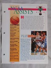 Bobby Hurley DUKE Basketball NCAA Assists Record Book #58 Sports Heroes Sheet