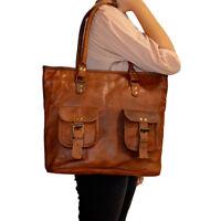 Genuine Leather Women's Tote Purse Vintage Shoulder Handbag Shopping Evening Bag