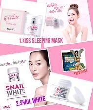 Facial Whitening Set KISS  SKINCRE SLEEPING MASK+ SNAIL WHITE CREAM FREE MASK
