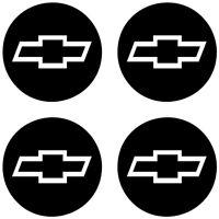 Fits CHEVY BOWTIE Wheel Center Cap Vinyl Decal Stickers (Custom Sizes)