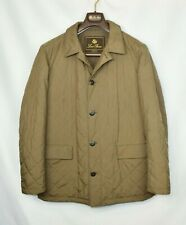 Loro Piana Blazer Coat Brown 100% Cashmere Lined Jacket Leather M Medium 50