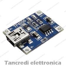 Modulo caricabatteria lipo TP4056 5V 1A mini USB li-ion litio lithium arduino