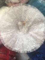 Adult Snow Queen Ballet Platter Tutu Skirt Dance Dress White Ballet Costume