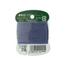 K.O. Beading Thread Blue 43593 Size D Japanese Bead Thread 30yds Nylon Waxed KO