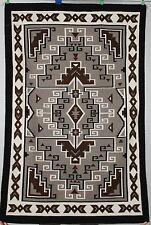 Navajo rug, blanket Native American textile, weaving Two Grey Hills Teec Nos Pos