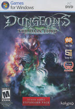 DUNGEONS THE DARK LORD - Realm Forge Strategy PC Game - US Version - BRAND NEW