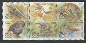 Russia 1997 Fauna, Animals, Birds 6 MNH stamps