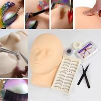 Mannequin Training Head for Eyelash Extension Practice Kit Make Up Practice Set