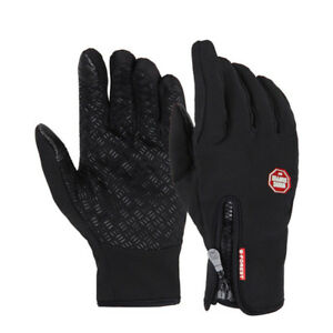 Winter Glove Outdoor Sports Cycling Bike Bicycle Full Finger Gloves M~XL UK #221