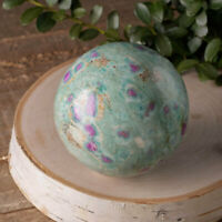 XL RUBY FUCHSITE Crystal Ball with Stand - Polished Stone Sphere Healing E0953