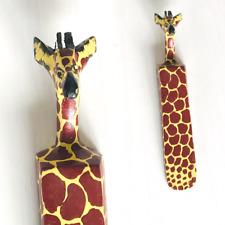 Handmade African wooden Kenya Giraffe Door Stopper