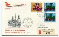 FFC 1984 Swissair First Flight DC 10 ER Zurich Bangkok Thailand REGISTERED