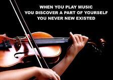 MUSICA Violino Violinista fonte d'ispirazione / motivazionali preventivo Poster / Stampa (2)