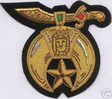 Masonic Shriner Gold Bullion Badge Uniform Officer Past Master Lodge Ceremony 33