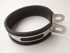 QUALITY STAINLESS EXHAUST HANGER BRACKET/STRAP 110mm DIAMETER OVAL OR ROUND CAN
