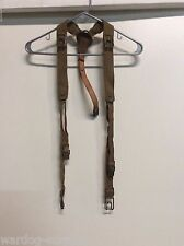 VINTAGE CZECH ARMY Y STRAP SUSPENDERS LEATHER CANVAS COMBAT LOAD BELT RIG SYSTEM