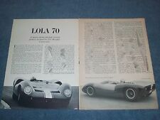 1965 Lola Type 70 Vintage Race Car Info Article with Eric Broadley Profile