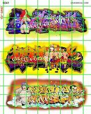6041 DAVE'S DECALS GRAFFITI GIRLS URBAN BOX CAR TRAINS WALL FREE SHIPPING