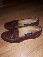 Cole Haan Bragano Kiltie Tassel Loafers, Mens Sz 9 W Brown Leather Slip On