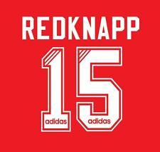 No 15 Redknapp Liverpool 1995-1996 Home Football Nameset for Shirt LFC