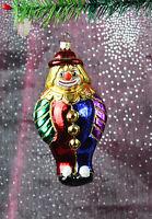 Clown bunt | Weihnachtsbaum Christbaumschmuck Lauscha Glas Figur Ornaments T-AA2