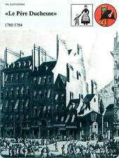 FICHE CARD Journal Le Père Duchesne Révolution française 1790-1794 France 90s