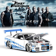 FAST AND FURIOUS 7 BRIAN'S NISSAN SKYLINE GT R R34 DIECAST MODEL CAR VEHICLE TOY
