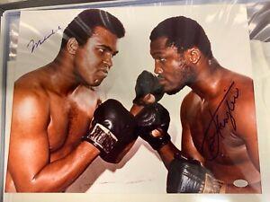 Muhammad Ali and Joe Frazier Autographed 11x14 Photo