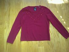 Ladies Red V Neck Sweater Size Small from East 5th