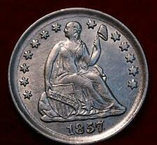 Uncirculated 1857 Philadelphia Mint Silver Seated Liberty Half Dime