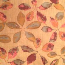 MARVIC Laurel Harlequin Leaves Pink Blue Woven Remnant New