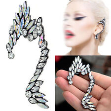 1pc Gothic Punk Elf Full Diamante Rhinestone Ear Wrap Cuff Stud Earring Charms